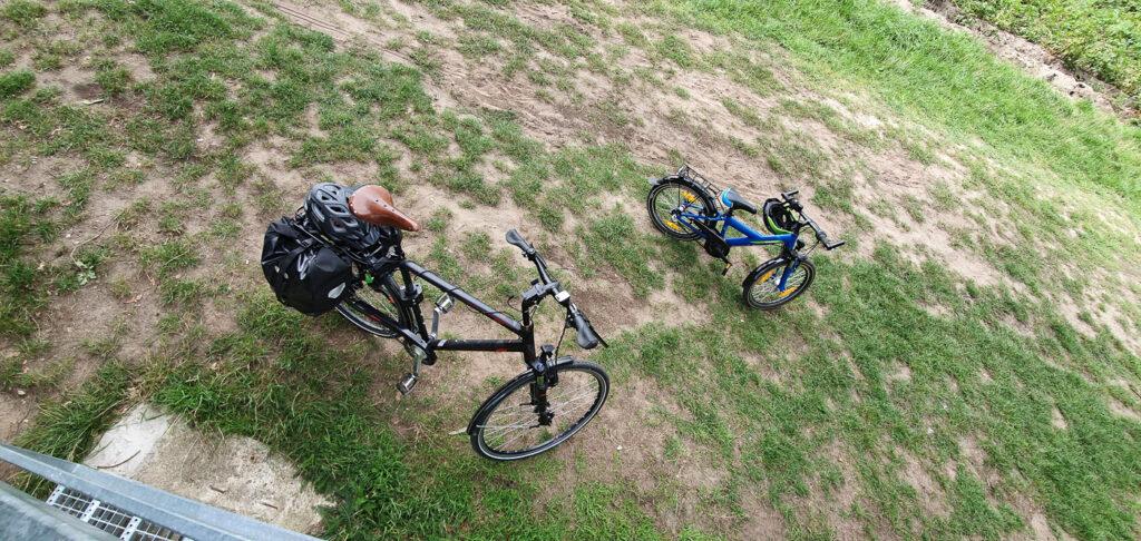 Unsere Räder bei einer Pause